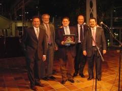 Placa por los años de colaboración con Iveco Pegaso. Madrid, Enero 2003